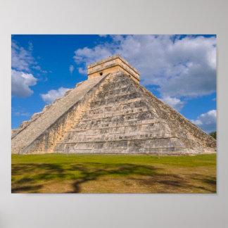 Póster Ruinas de Chichen Itza en México