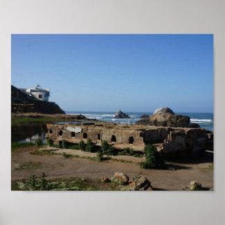 Póster Ruinas de los baños de Sutro - poster de San
