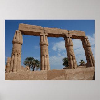 Póster Ruinas del templo en el poster de Thebes