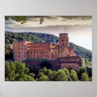 Póster Ruinas famosas del castillo, Heidelberg, Alemania