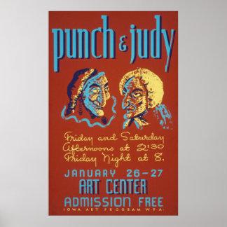 Póster Sacador y poster del vintage de Judy