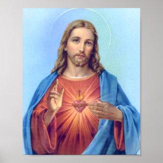 Poster sagrado del corazón póster