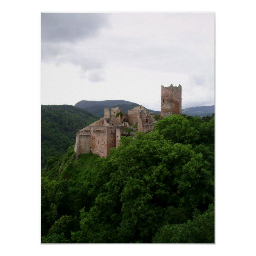 Póster Saint Ulrich Castle, Ribeauvillé. Alsace, France