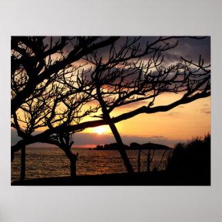 Póster Salida del sol de la isla