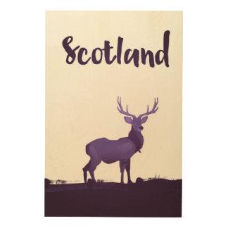 Poster salvaje del viaje de la tinta del macho de impresión en madera