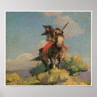Poster salvaje indio 1896 del arte del cuervo del