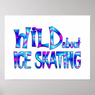 Póster Salvaje sobre el patinaje de hielo