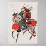 Póster Samurai a caballo