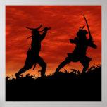 Póster Samurai en duelo
