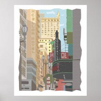 Póster San Francisco-Powell y calles de O'Farrell
