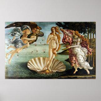 Póster Sandro Botticelli icónico el nacimiento de Venus
