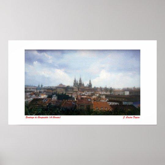 Póster Santiago de Compostela (A Coruña)