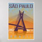 Póster Sao Paulo vintage poster