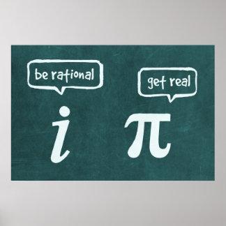 Póster ¡Sea racional! - Poster de la matemáticas