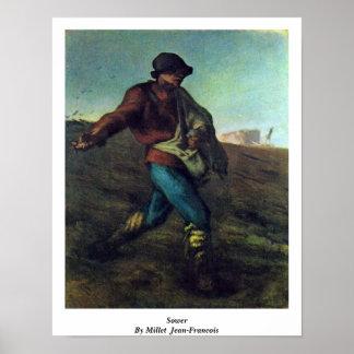 Póster Sembrador por el mijo (ii), Jean-Francois