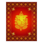 Póster Señor decorativo Ganesha