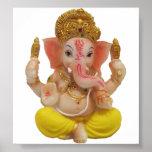 Póster Señor Ganesh, gran dios hindú para la felicidad