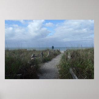 Póster Serenidad en la playa