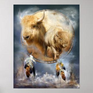 Póster Serie-Alcohol ideal del colector del búfalo blanco