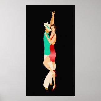 Póster Serie de la danza de los bailarines de la salsa