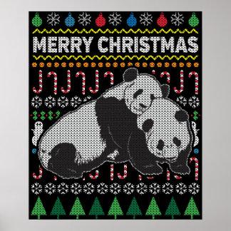 Póster Serie fea de la fauna del suéter del navidad de