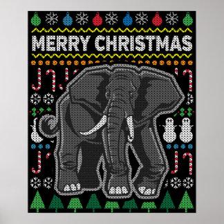 Póster Serie fea de la fauna del suéter del navidad del