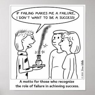 Póster Si el fallar me hace un fracaso…