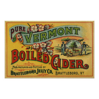 Póster Sidra hervida jalea Vermont de Brattleboro del
