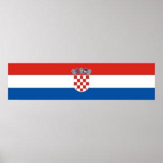 Póster Símbolo de la bandera de país de Croacia de largo