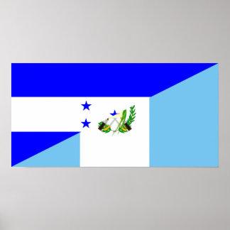 Póster símbolo de la bandera del país de Honduras