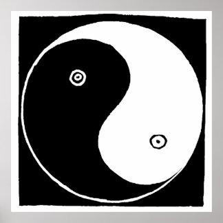 Póster Símbolo de Yin y de Yang