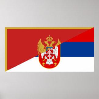 Póster símbolo del país de la bandera de Serbia