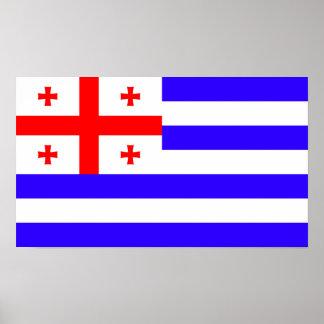 Póster Símbolo Georgia de la bandera de la república de