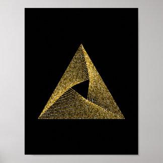 Póster Símbolo sagrado de la geometría