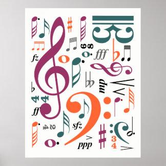 Póster Símbolos de la música