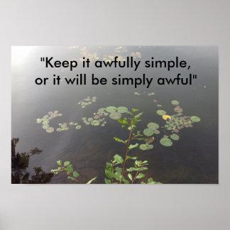 Póster Simplicidad