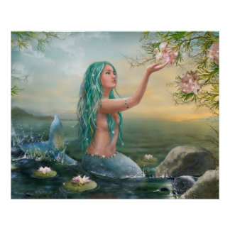 Póster sirena Ariel del poster