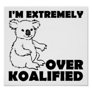 Póster Sobre el poster divertido de Koalafied