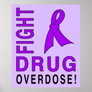 Póster Sobredosis de droga de la lucha