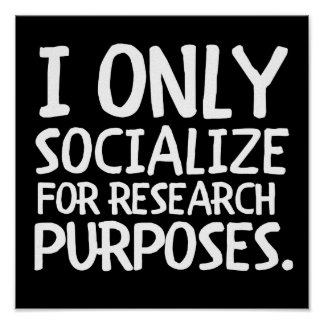 Póster Socializo solamente para la investigación