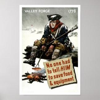 Póster Soldado de la fragua del valle -- Propaganda WW2