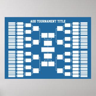 Póster Soporte del torneo de los deportes para 64 equipos