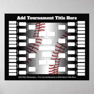 Póster Soporte del torneo del béisbol para 32 equipos