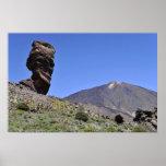 Póster Soporte Teide en las islas Canarias