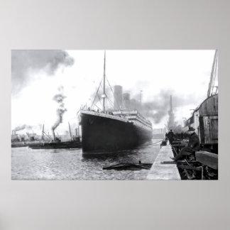 Póster Southampton de salida:  RMS titánico