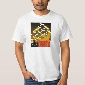 Poster soviético de la propaganda, poster de la camiseta