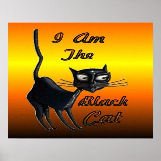 Póster Soy poster del gato negro