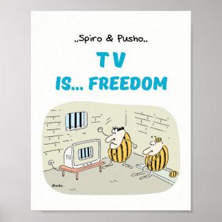 Póster Spiro y Pusho TV cita el poster 8x10 de los