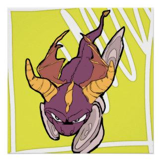 Póster Spyro el dragón púrpura