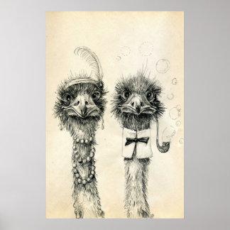 Póster Sr. y señora Ostrich